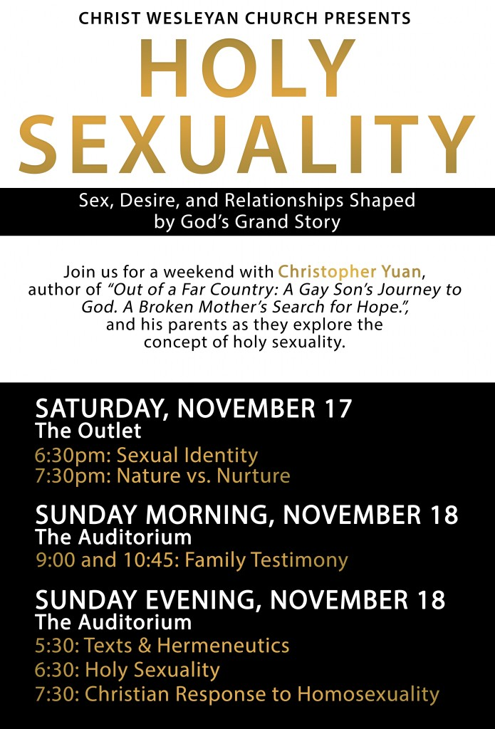 Wesleyanism and homosexuality and christianity